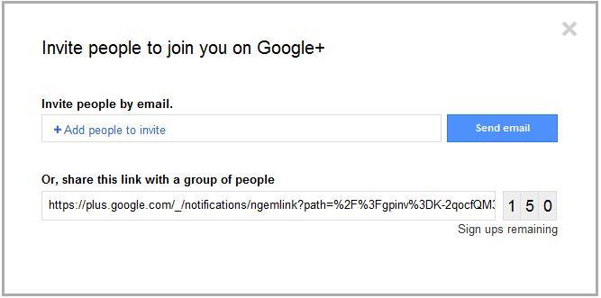 Invite GooglePlus+ Invite Friend to Google+ In Easier Manner